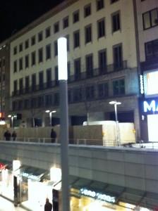 Baustelle Apple Store Hannover