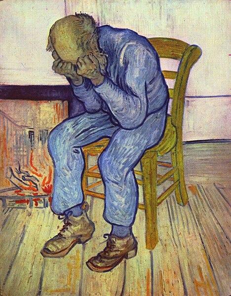 Gemälde: An der Schwelle zur Ewigkeit, Vincent van Gogh