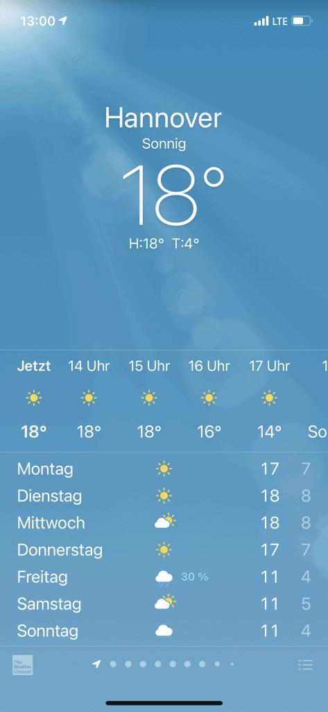 Temperaturdaten