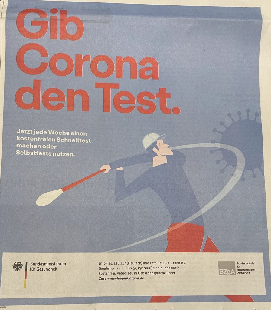 Coronatest-Werbung des Bundes