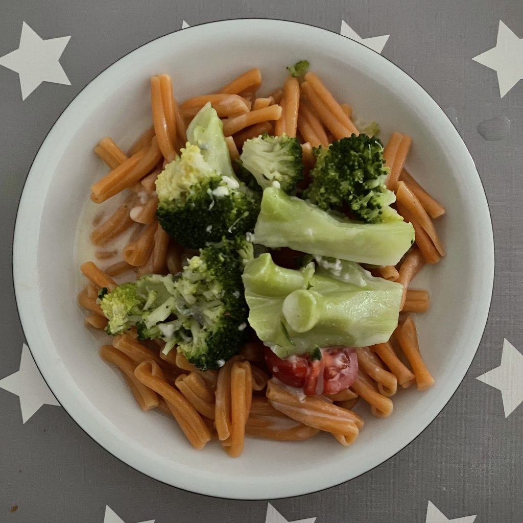 Teller vegetariscges Abendessen