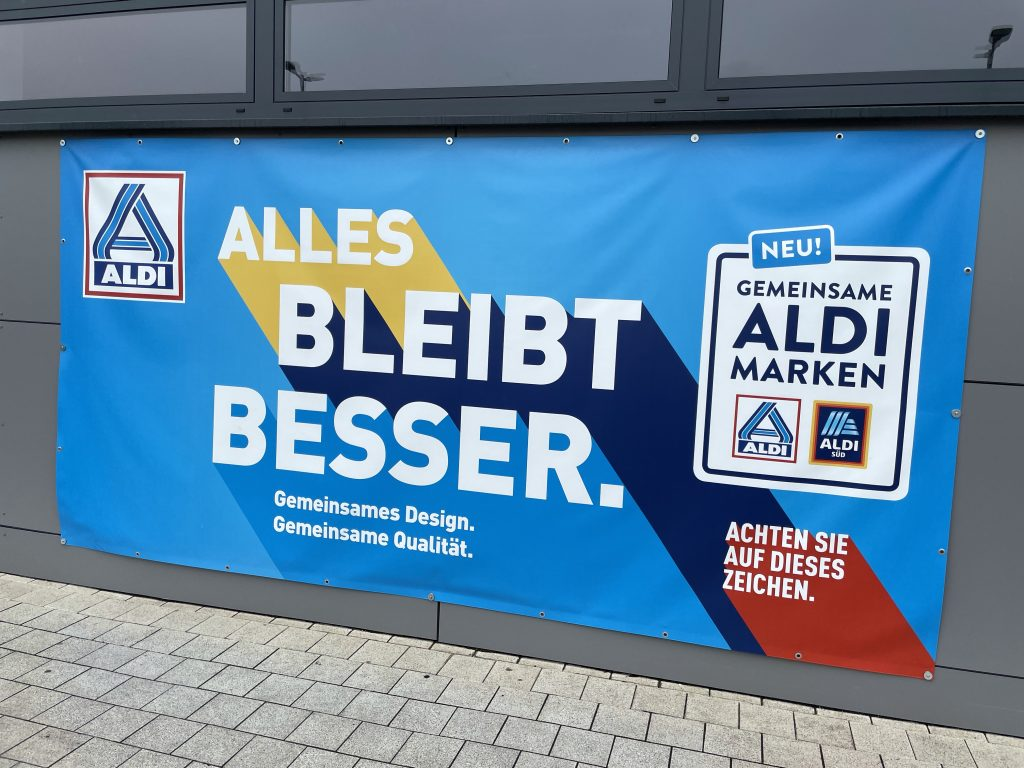 Aldi-Wandreklame