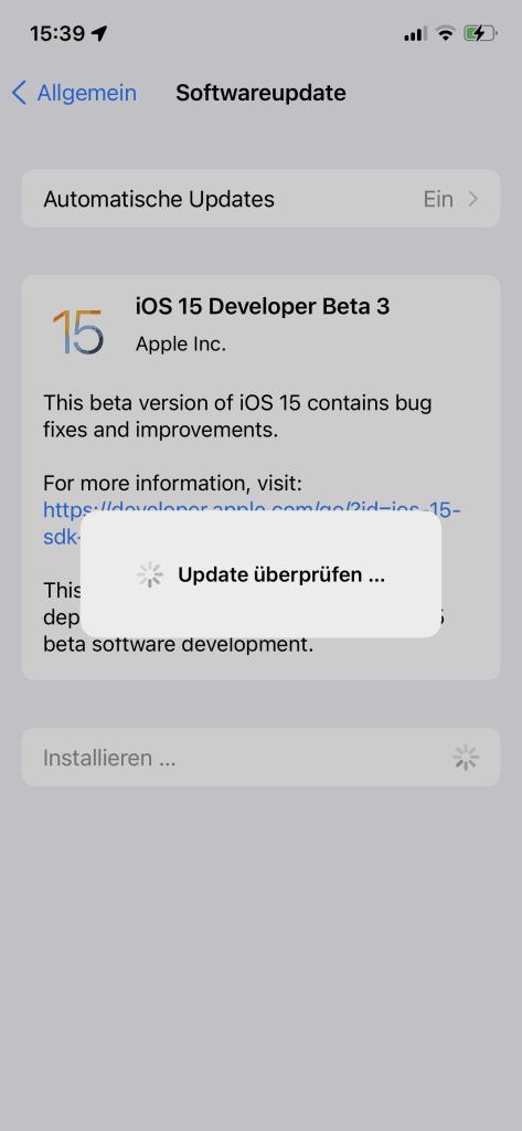 Install iOS 15 Beta 3