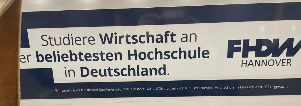 FHDW Hannover Reklame