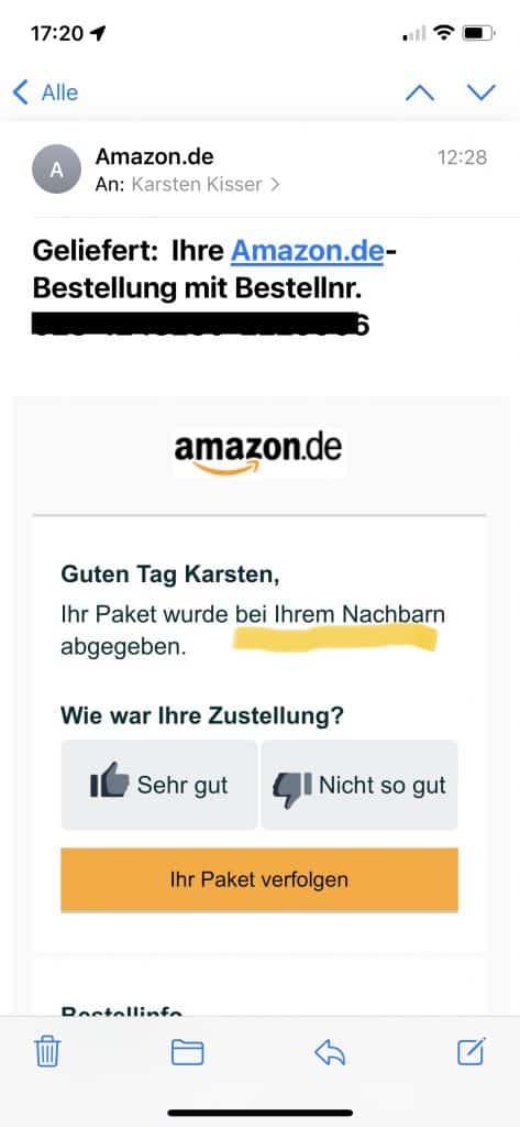 Amazon Zustellmail