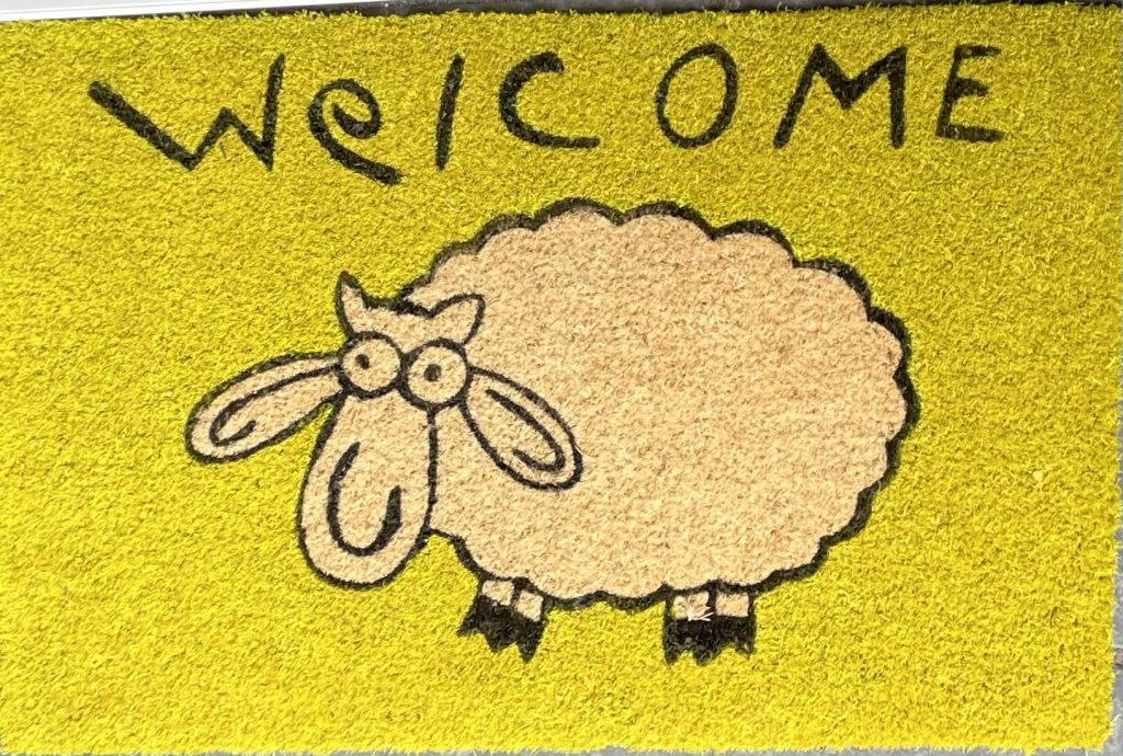 neuer Schaf-Fußabtreter