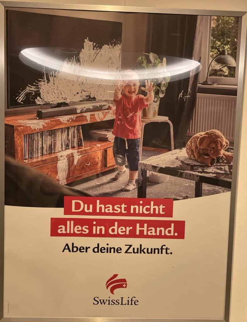Swisslife-Reklame: Du hast nicht alles in der Hand, aber Deine Zukunft
