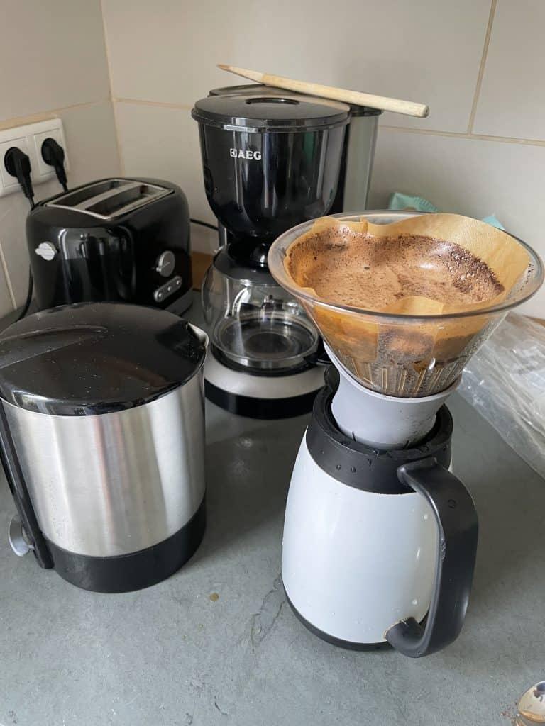 Kaffee wird zubereitet