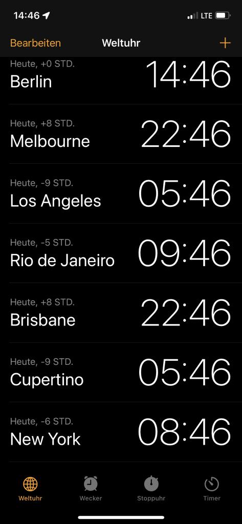 Uhrzeiten mit 14:46 MESZ