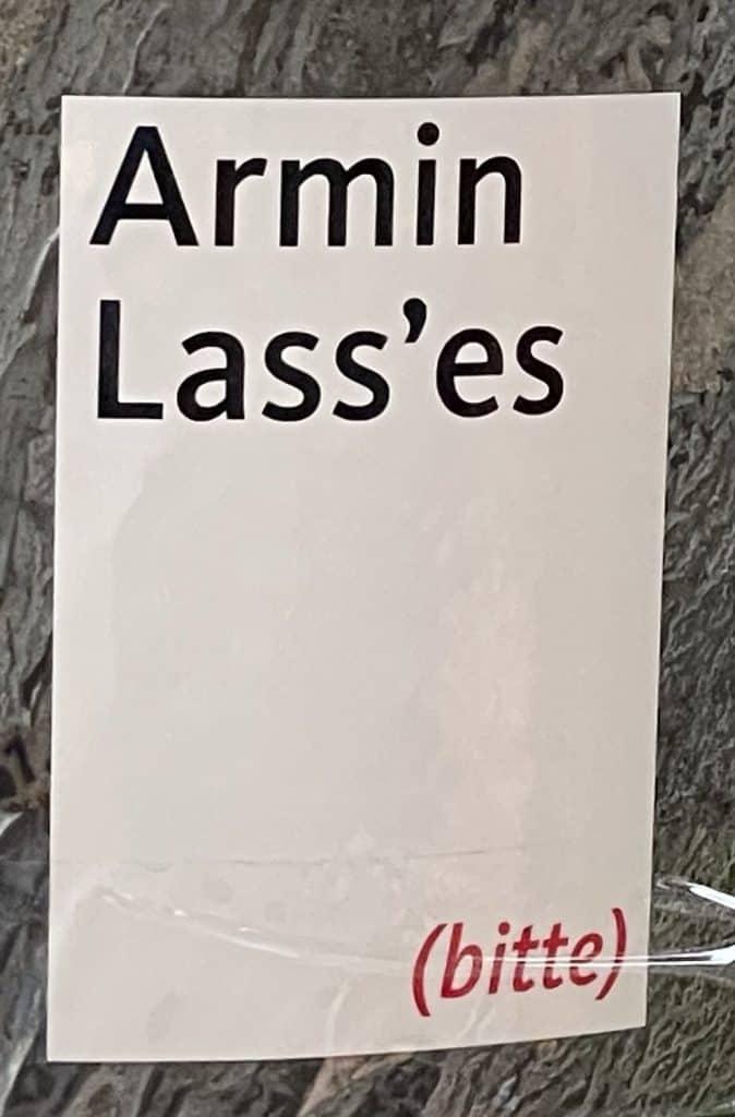 Armin lass es Aufkleber