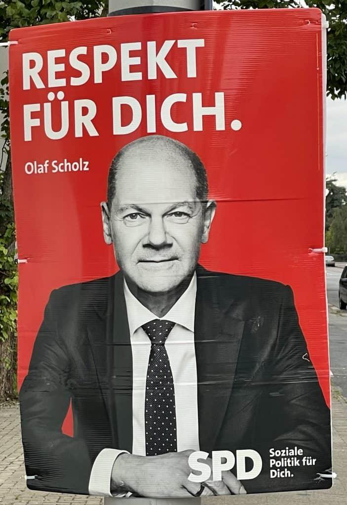 Wahlplakat Olaf Scholz
