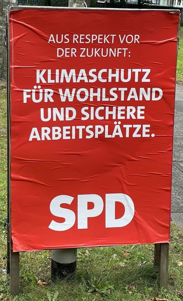 SPD-Wahlplakat zu Klimaschutz