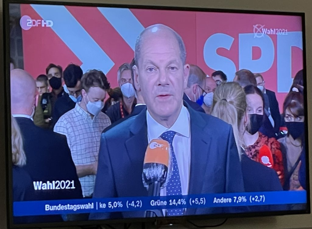 Olaf Scholz am Wahlabend