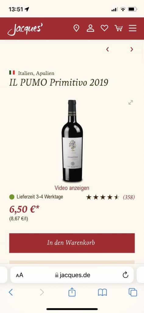 Jaques' Weindepot: Leckerer Rotwein