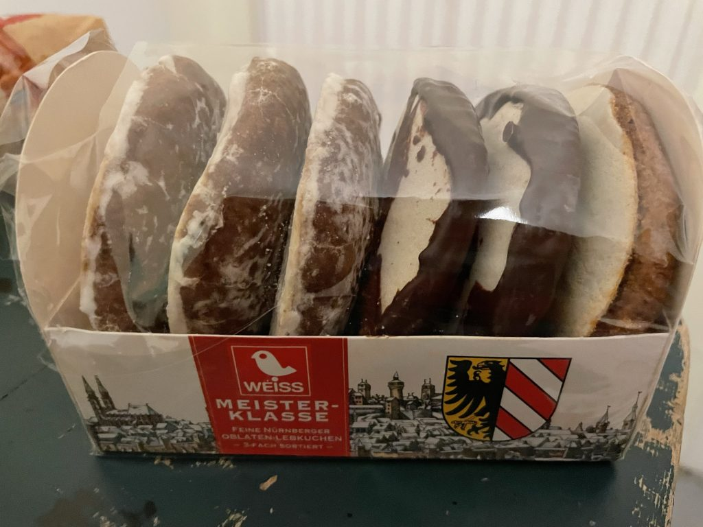 Packung Weihnachtskekse