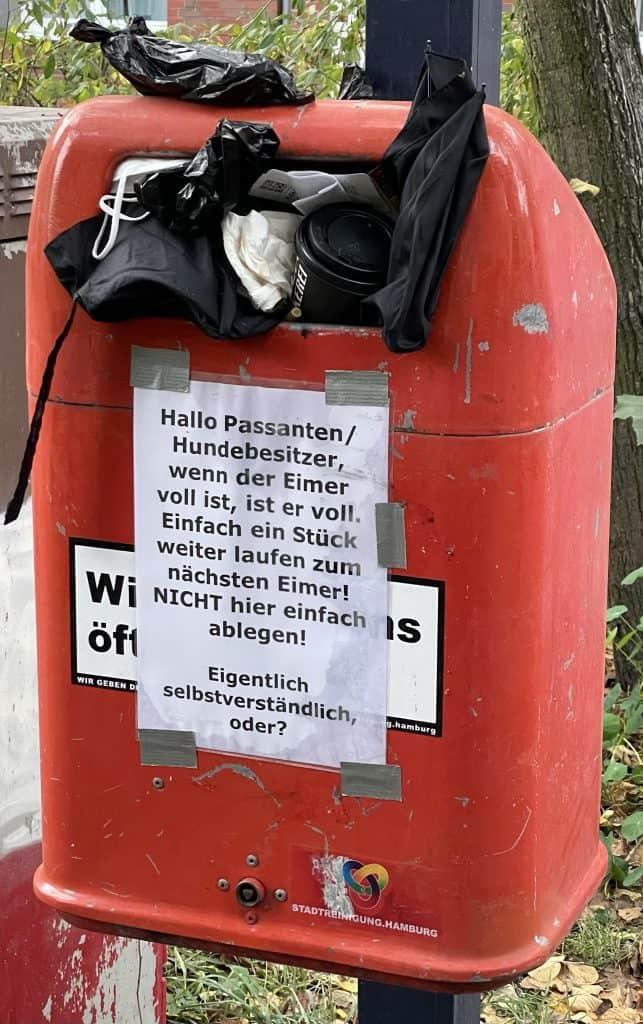 Müllbehälter in Hamburg